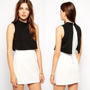 ASOS LAVISH ALICE Color Block Cropped Mini Dress
